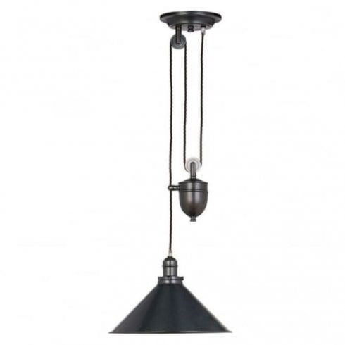 Elstead Provence 1 Light Rise and Fall Pendant Old Bronze
