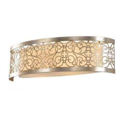 Elstead Arabesque 2 Light Surface Wall Light Silver
