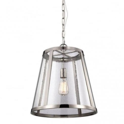 Elstead Harrow Pendant Celling Light Polished Nickel