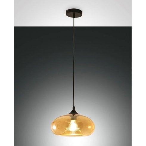 Fabas Luce Ela Pendant Ceiling Light Amber