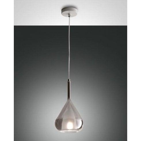 Fabas Luce Lila Pendant Ceiling Light Grey