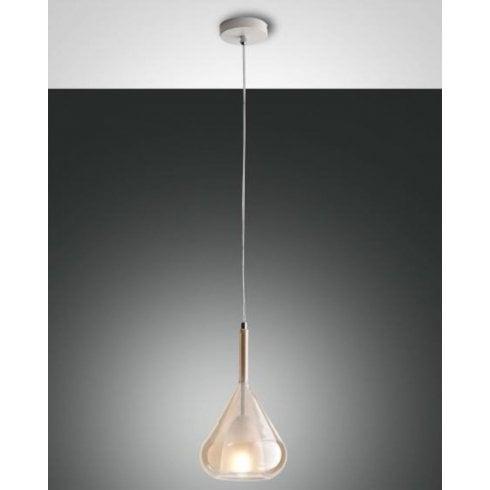 Fabas Luce Lila Pendant Ceiling Light Amber