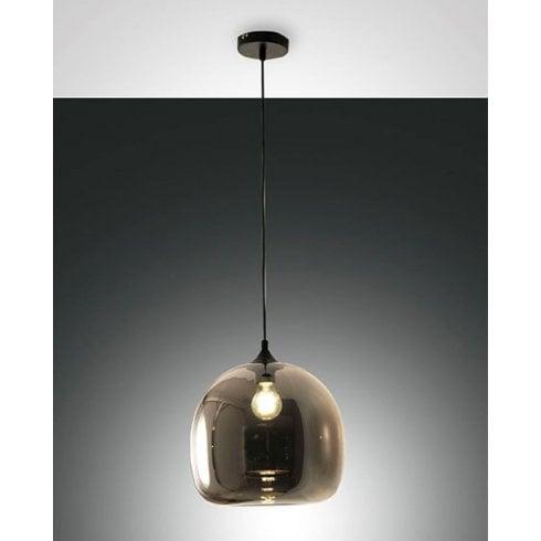 Fabas Luce Maia Pendant Ceiling Light Grey