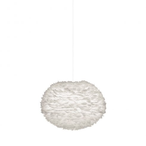 Umage Large Eos Lampshade Natural Goose White Feather
