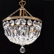 Baguette 171/8/1 Gold Plated With Crystal Trimmings Ceiling Light