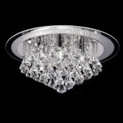 Renner RENNER-6CH Crystal & Glass Semi Flush Ceiling Light