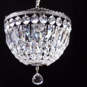 Baguette 172/10/1 Chrome Crystal Trimmings Ceiling Light