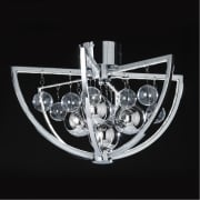 Endon Muni MUNI-CH-F Chrome Semi Flush Ceiling Light