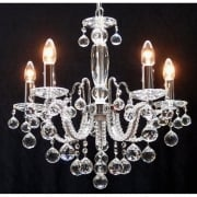 Fantastic Mozart 600/5 Chrome With Beaded Arm & Ball Trimmings Chandelier