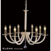 Elena IL-IL30378 Gold Crystal Eight Light Pendant Ceiling Fitting
