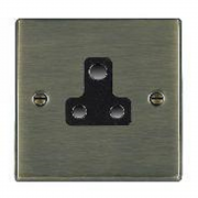 Hartland 79US5B Antique Brass 1 gang 5A Unswitched Socket