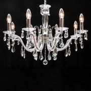Mozart 603/8 Chrome Beaded Arm & New Pear Shape Trimmings Chandelier