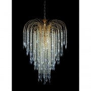 SHOWER ST01900/60/06/G Gold With Crystal Detail Chandelier