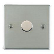 Hatland 731X60 Bright Chrome 1 gang 600W 2 Way Leading Edge Push On/Off Resistive Dimmer