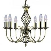 Searchlight Electric Searchlight Zanzibar 8396-6 Antique Brass Pendant