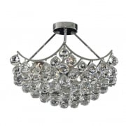 Searchlight Electric Searchlight Sassari 6555-5CC Chrome With Crystal Detail Semi-Flush Chandelier