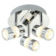Searchlight Bubbles 4413CC Chrome Round 3 Ceiling LED Spotlight IP44