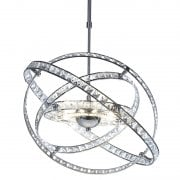Dar Eternity 10 Light Pendant Ceiling Light Polished Chrome & Crystal