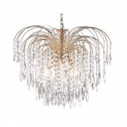 Searchlight Waterfall 5175-5 Pendant Ceiling Light Gold
