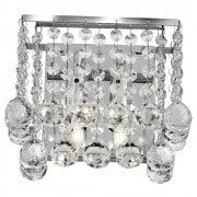 Searchlight Hanna 5402-2CC Surface Wall Light Crystal