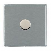 Linea-Duo CFX LD1X40BC-SS Satin Steel 1 gang 400W 2 Way Leading Edge Push On/Off Resistive Dimmer