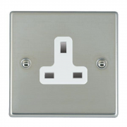 Hartland 73US13W Bright Chrome 1 gang 13A Unswitched Socket