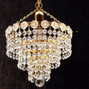 3 Tier Chandelier KP/8/1 With Crystal Strands Ceiling Light