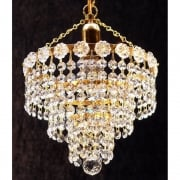 4 Tier Chandelier KP/10/1 Crystal Strands Ceiling Light