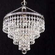 Tiered 169/10/1 Chrome Crystal Trimmings Pendant