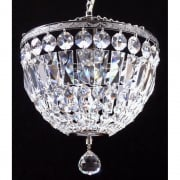 Baguette 172/12/3 Chrome Crystal Trimmings Ceiling Light