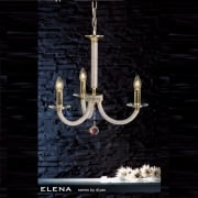 Elena IL-IL30373 Gold Crystal Three Light Pendant Ceiling Fitting