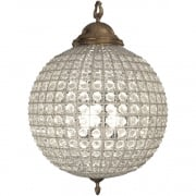 Round 36013 Crystal Effect Brass ball Chandelier Medium