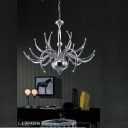 Llamas IL-IL30142 Polished Chrome 24 Light Pendant Ceiling Fitting