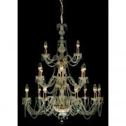 MODRA CP06028/18/G Gold With Crystal Detail Chandelier