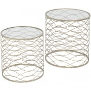 Gatsby 231148 Set of Two Gold Nesting Side Tables