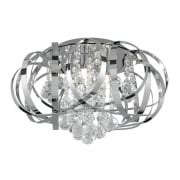 Tilly 5973-3CC Chrome With Crystal Glass Detail Semi-Flush Ceiling Light