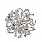 Searchlight Curls 5816-6CC Chrome With Crystal Detail Pendant