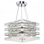 Dar Cube 5 Light Pendant Ceiling Light Polished Chrome
